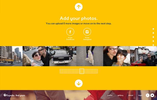 HTML5 websites : Expedia: Find Your Story