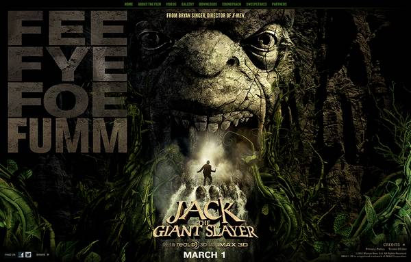 HTML5 websites : Jack The Giant Slayer