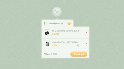 Shopping Cart Dropdown(PSD)