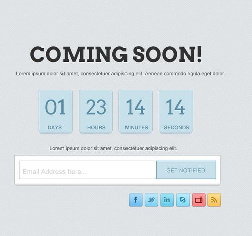 How to Create Clean Coming Soon Page in Photoshop
