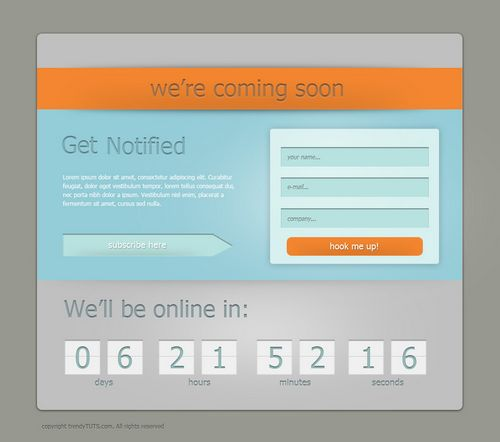 How to design a coming soon page in Photoshop