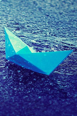 Paper Boat iPhone Wallpaper