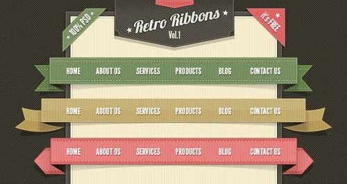 Retro Ribbons