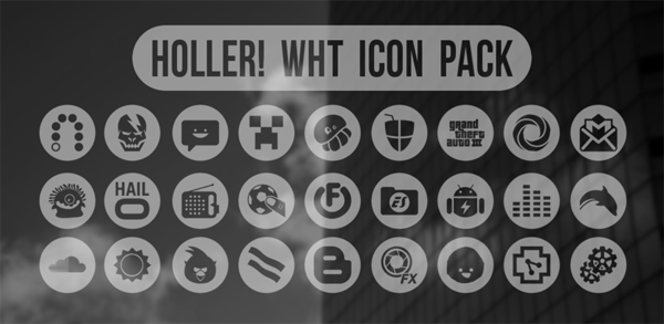 Holler! wht Icon Pack