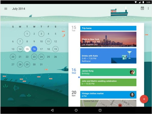 best android calendar apps - Google Calendar