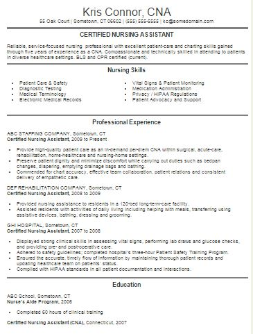 5 sample resume certified nursing nursing resume template free web