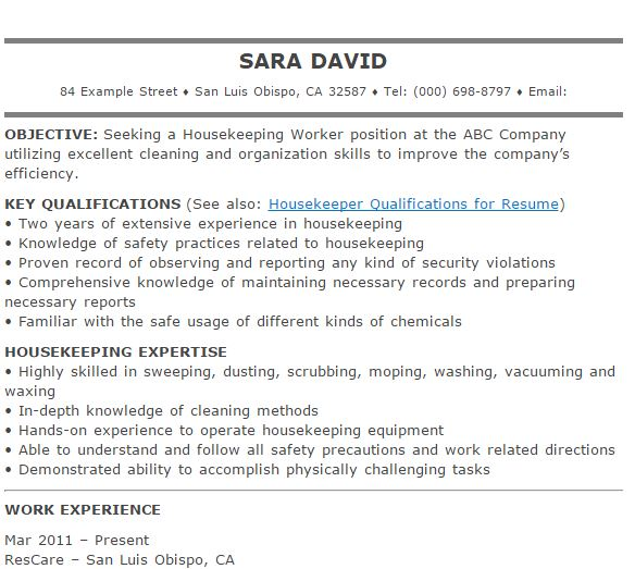 3-housekeeping-resume