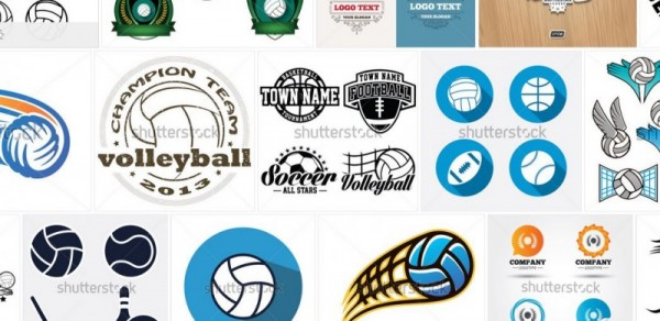 Collection of ShutterStock Volleyball Logos