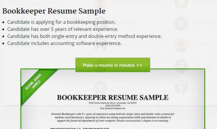 Best Bookkeeper Resume Example   LiveCareer Accounting Bookkeeper Resume