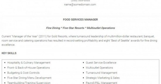 1-Restaurant Manager Resume