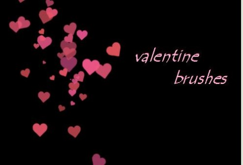 Valentine Brushes - valentine heart brushes photoshop