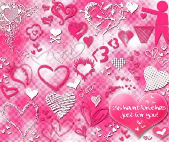 Heart Brushes - heart brushes photoshop free