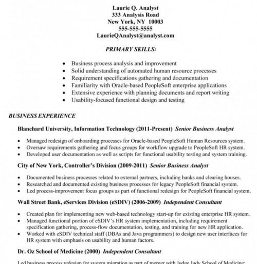 healthcare business analyst resume example httpresumecompanioncom – Senior Business Analyst Resume Example