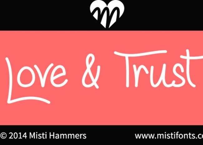 Love & Trust - nice handwriting font free download