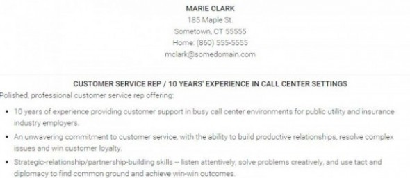 How To Write A Customer Service Resume – Sample Customer Service Resume