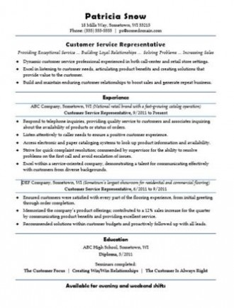career advice customer service resume sample 2