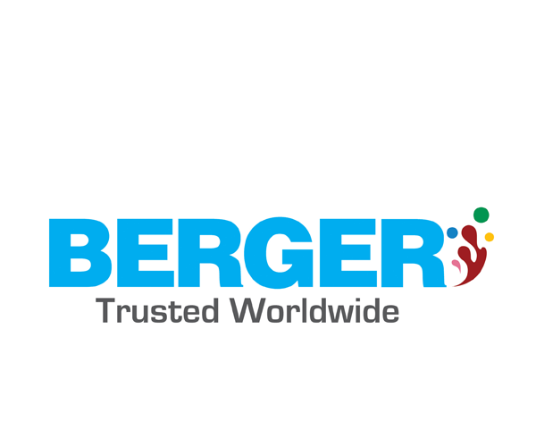 4-berger - painting company logo vector